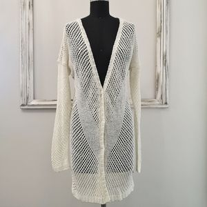 Anna Scott Midi Cream Cardigan